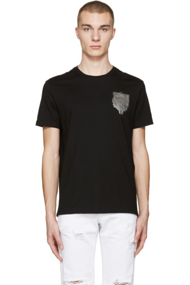 Versus - Black Lion Patch T-Shirt