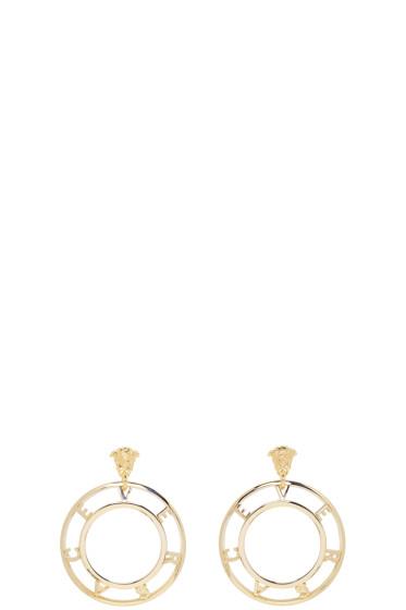 Versace - Gold Logo Earrings