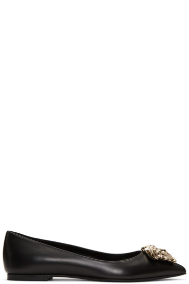 Versace - Black Medusa Ballerina Flats
