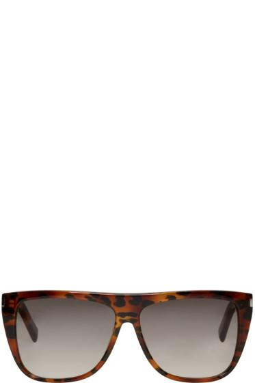 Saint Laurent - Tortoiseshell SL 1 Bold Sunglasses