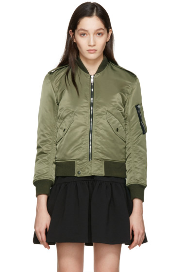 Saint Laurent - Green Aviator Bomber Jacket
