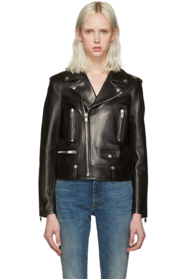 Saint Laurent - Black Leather Motorcycle Jacket
