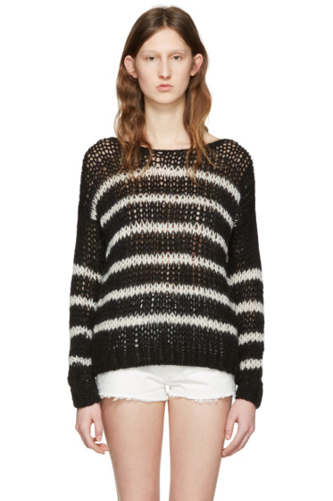 Saint Laurent - Black & White Striped Sweater