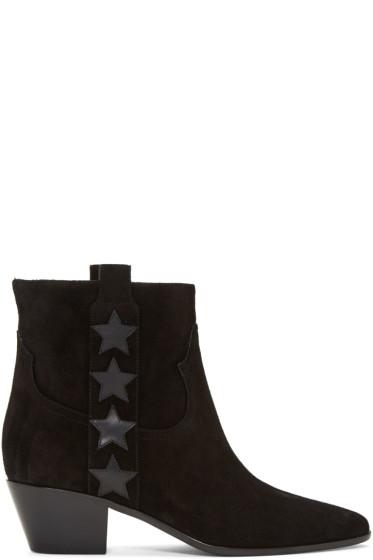 Saint Laurent - Black Suede Rock Boots