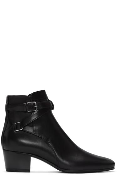 Saint Laurent - Black Blake Jodhpur Boots