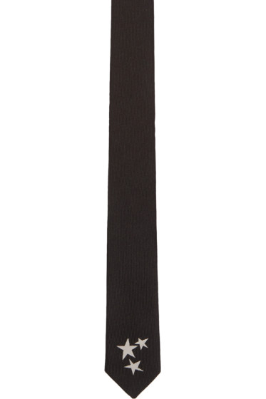 Saint Laurent - Black Stars Tie