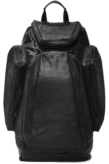 Julius - Black Lambskin Backpack