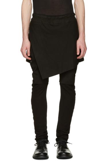 Julius - Black Indirect Combination Trousers