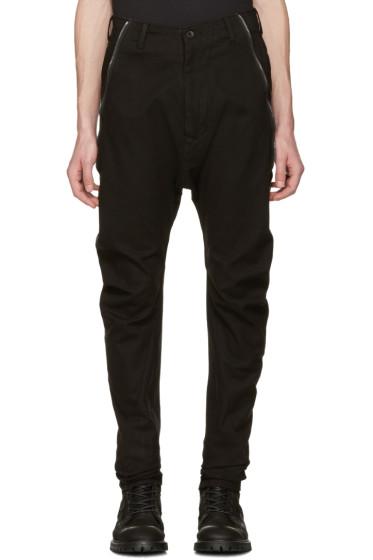 Julius - Black Twisted Flight Trousers