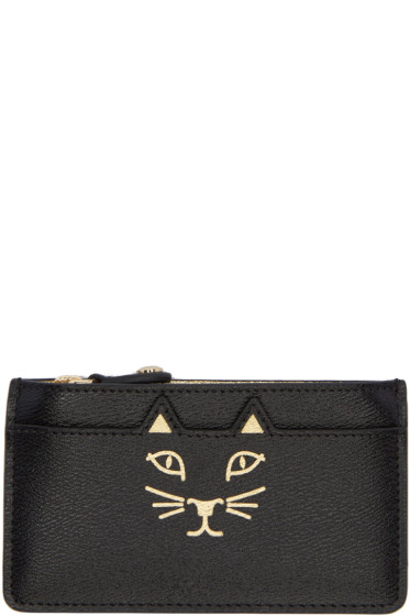 Charlotte Olympia - Black Feline Coin Pouch