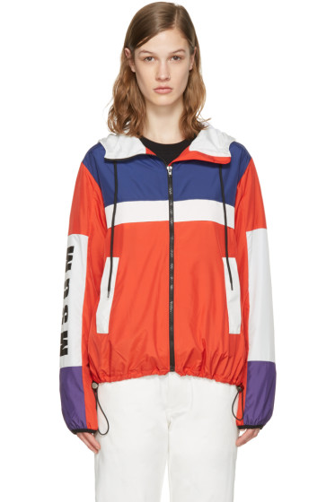 MSGM - Red Parachute Windbreaker Jacket