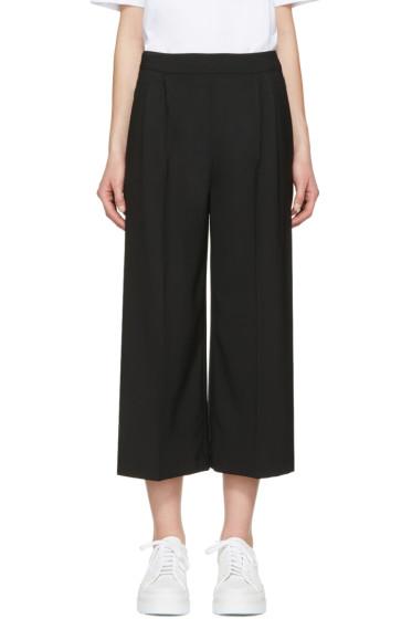 MSGM - Black Wide-Leg Culottes