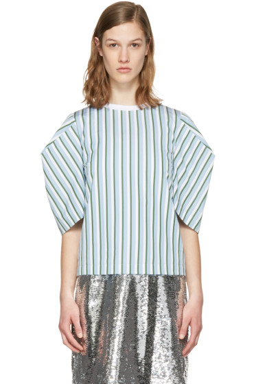 MSGM - Blue Volume Sleeve Blouse