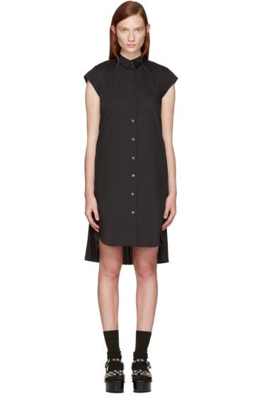 Sacai - Black Classic Shirting Pleated Dress