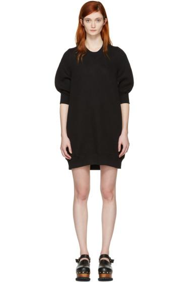 Sacai - Black Sweatshirt Dress