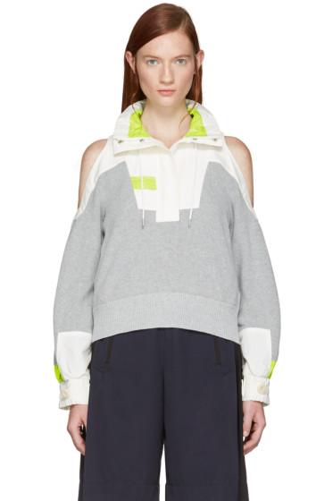 Sacai - Grey Knit Pullover