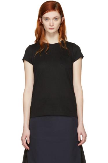 Sacai - Black Dot Lace T-Shirt