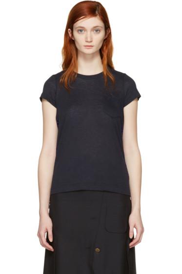 Sacai - Navy Dot Lace T-Shirt