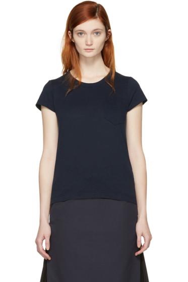 Sacai - Navy Fan Back T-Shirt