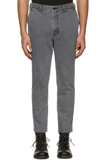 Sacai - Grey Raw Edge Jeans
