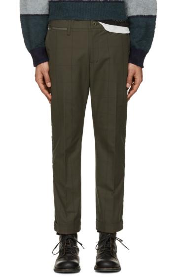 Sacai - Green Box Check Trousers