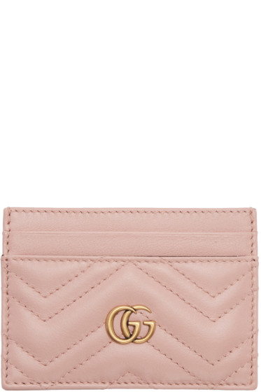 Gucci - Pink GG Marmont Card Holder