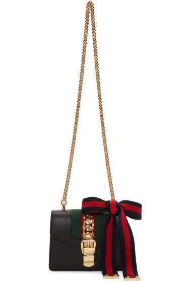 Gucci - Black Mini Sylvie Chain Bag