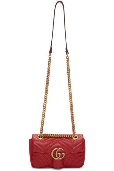 Gucci - Red Mini GG Marmont 2.0 Bag