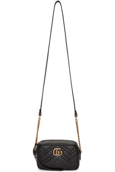 Gucci - Black GG Marmont 2.0 Camera Bag