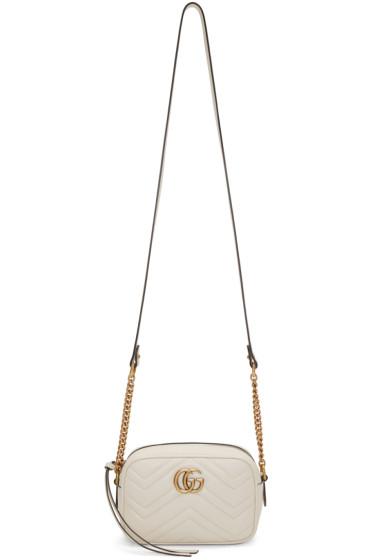 Gucci - White GG Marmont 2.0 Camera Bag