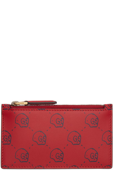 Gucci - Red GucciGhost Card Holder