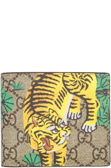 Gucci - Beige Bengal GG Supreme Wallet