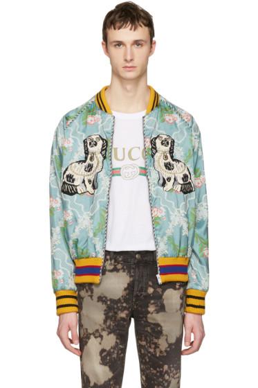 Gucci - Multicolor Floral Jacquard Bomber Jacket