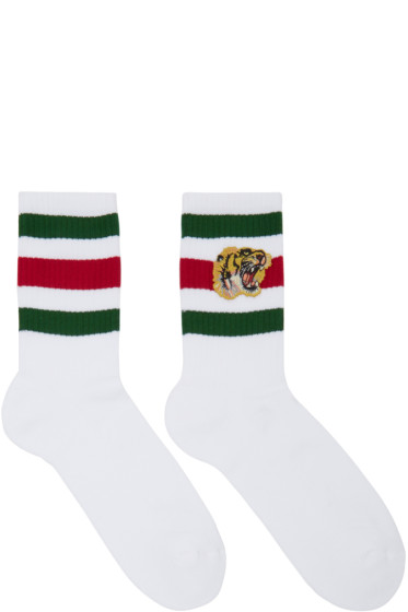Gucci - White Little William Tiger Socks