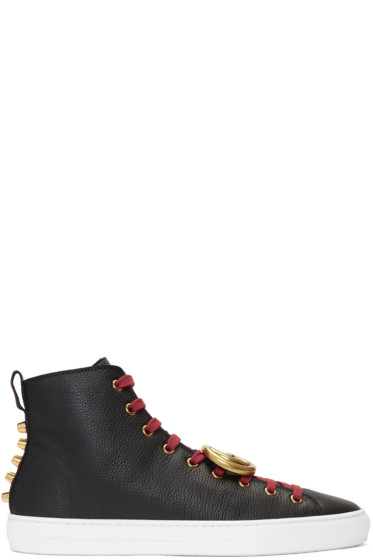 Gucci - Black Major Logo High-Top Sneakers