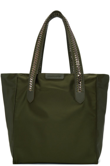 Stella McCartney - Black Nylon Chained Tote