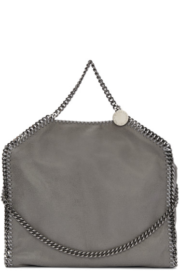 Stella McCartney - Grey Falabella Fold Over Tote
