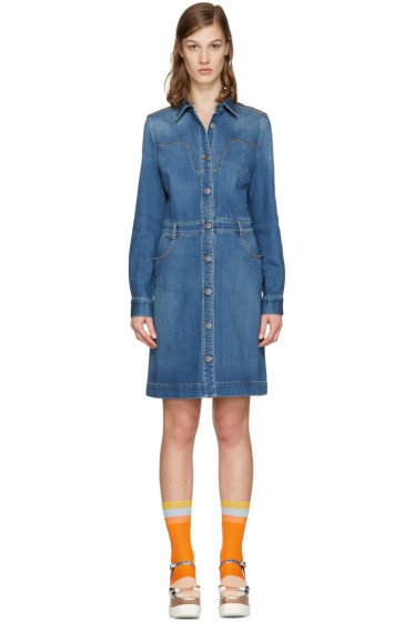 Stella McCartney - Blue Denim Shirt Dress