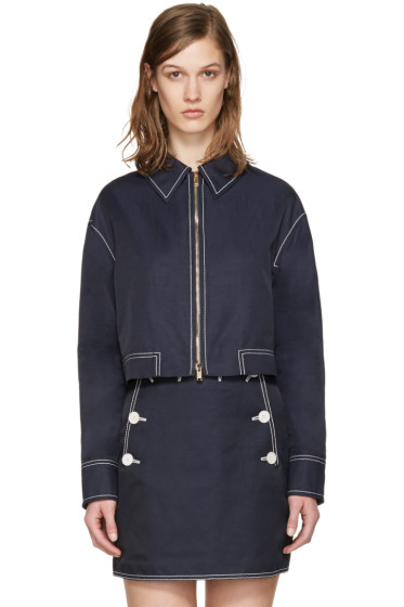 Stella McCartney - Navy Cropped Jacket