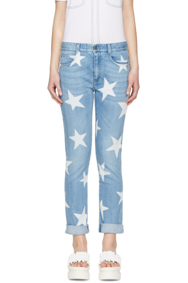 Stella McCartney - Blue Skinny Boyfriend Stars Jeans