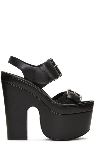 Stella McCartney - Black Platform Buckles Sandals