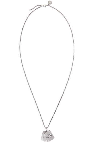 Stella McCartney - Silver Cards Necklace