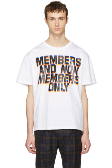 Stella McCartney - White 'Members And Non Members' T-Shirt