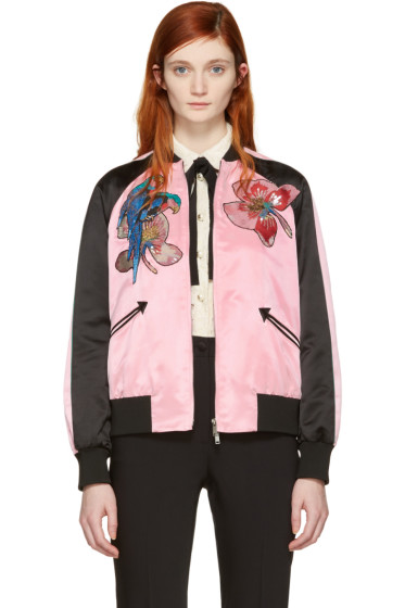 Valentino - Pink Floral Souvenir Jacket