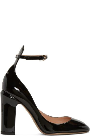 Valentino - Black Patent Tall Tan-Go Mary Janes