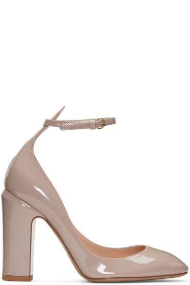 Valentino - Pink Patent Tan-Go Mary Janes