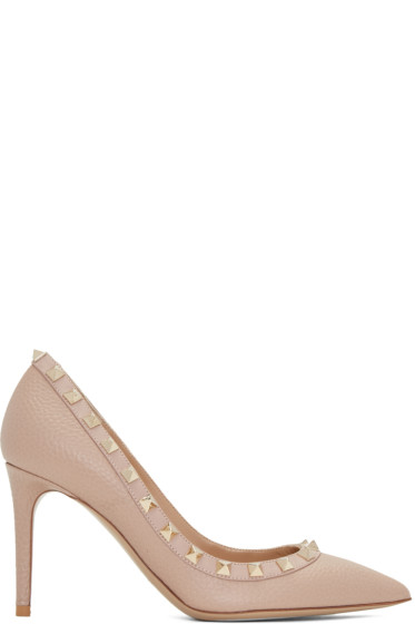 Valentino - Pink Rockstud Heels