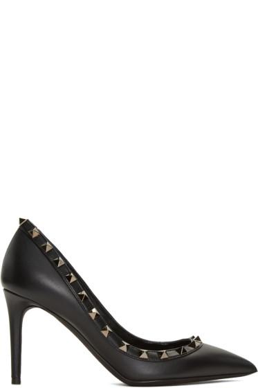 Valentino - Black Rockstud Heels