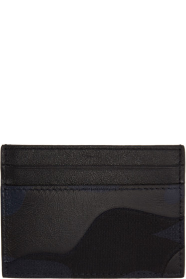 Valentino - Navy Camouflage Card Holder
