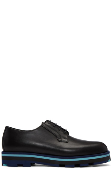 Valentino - Black Lace-Up Derbys